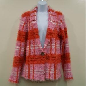 Orange Pink Fuzzy Jacket